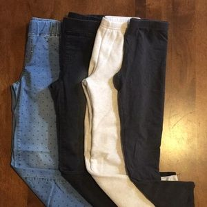 4 Pairs of Girls Leggings/Jeggings